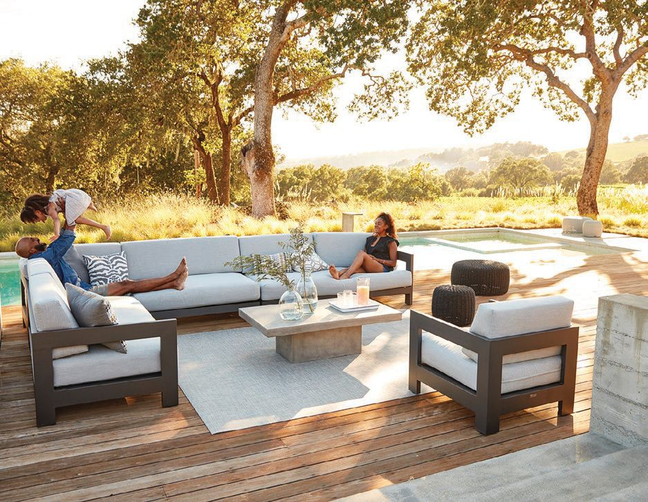 The Tiburon metal sectional from Terra Outdoor Living PHOTO: COURTESY OF BRAND; BY CARLYE