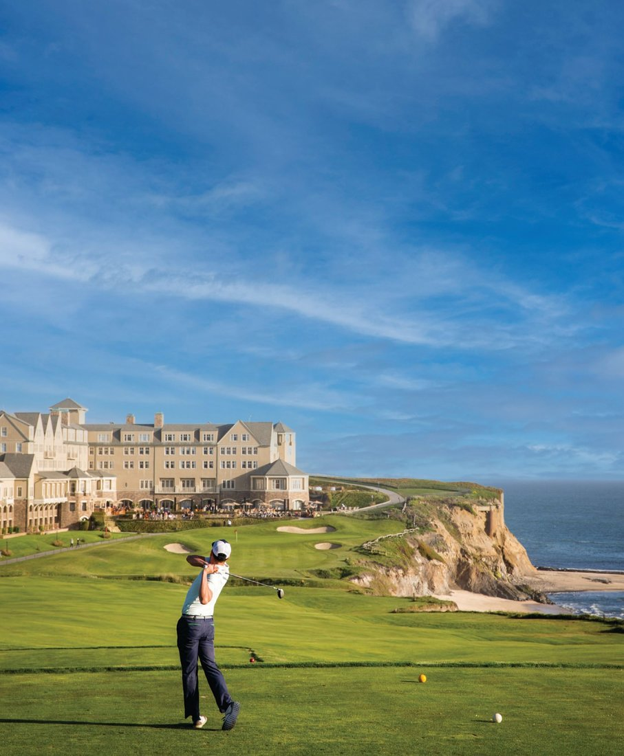 In times of social distancing, practicing your swing along the coastline at The Ritz-Carlton, Half Moon Bay is an apt weekend activity. PHOTOS COURTESY OF THE RITZ-CARLTON, HALF MOON BAY
